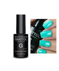 Гель-лак GRATTOL 61 Light Turquoise (Светло-Бирюзовый)