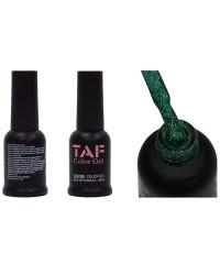 Гель-лак TAF №106, голографический зеленый с мелкими блестками, 8мл