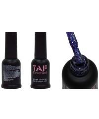 Гель-лак TAF №107, голографический серо-голубой с мелкими блестками, 8мл