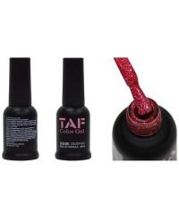 Гель-лак TAF №109, голографический ярко-розовый с мелкими блестками, 8мл