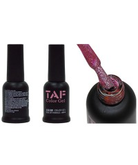 Гель-лак TAF №110, голографический темно-розовый с мелкими блестками, 8мл
