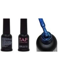 Гель-лак TAF №117, синий с мелкими блестками, 8мл