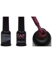 Гель-лак TAF №123, розовые блестки, 8мл