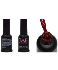 Гель-лак TAF №134, красные блестки, 8мл
