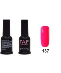 Гель-лак TAF №137, ярко-розовый, 8мл