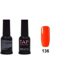 Гель-лак TAF №136, ярко-оранжевый, 8мл