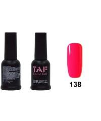 Гель-лак TAF №138, розовый неон, 8мл