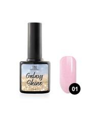 Гель-лак TNL Galaxy shine №01 пыльно-розовый с шиммером 10 мл