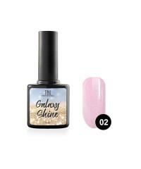 Гель-лак TNL Galaxy shine №02 розовый с шиммером 10 мл