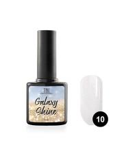Гель-лак TNL Galaxy shine №10 белый с шиммером 10 мл