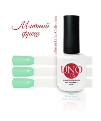 UNO LUX, Гель-лак - B84 Mint Fresh - Мятный фреш, 15мл.
