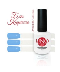 UNO LUX, Гель-лак - B87 Blue Curacao - Блю Кюрасао, 15мл.