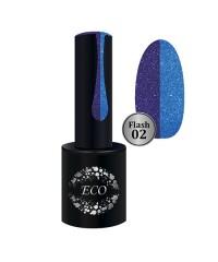 Гель-лак ECO Professional FLASH светоотражающий синий 02