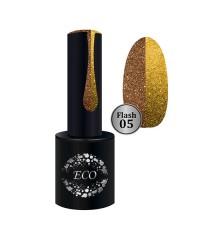 Гель-лак ECO Professional FLASH светоотражающий золото 05