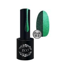Гель-лак ECO Professional FLASH светоотражающий зеленый 03