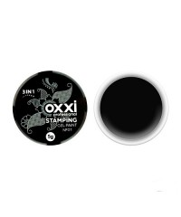 Гель краска стэмпинга STАMPING OXXI черная №01, 5гр