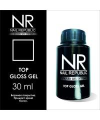Верхнее покрытие с липким слоем TOP GLOSS GEL Nail Republic, 30 мл