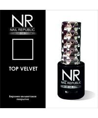Верхнее вельветовое покрытие TOP VELVET Nail Republic, 10 мл