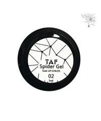 Гель-краска Паутинка TAF белая 02, 5 мл.