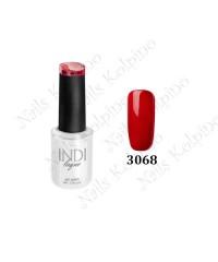 Гель-лак INDI 3068, тёмно-красный, эмалевый