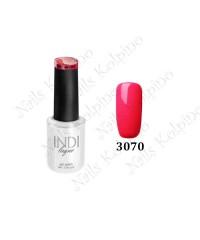 Гель-лак INDI 3070, красно-розовый, эмалевый
