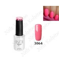 Гель-лак INDI laque 3064, ярко-розовый, эмалевый