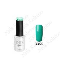 Гель-лак INDI laque 3355, бирюзово-зеленый, эмалевый