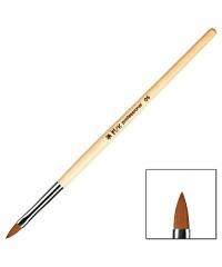 IRISK, Кисть плоская для акрила с деревянной ручкой, в тубе № 6