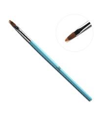 """TNL, Кисть для дизайна ногтей """"Гребешок"""" (голубая ручка)"""