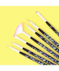 Набор кистей для росписи (7 штук), синтетика