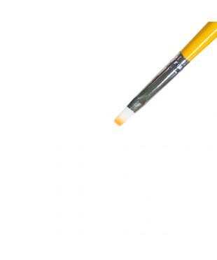 """Кисть для геля искусственный ворс, прямая """"IRISK"""" №4 (K209-04)"""