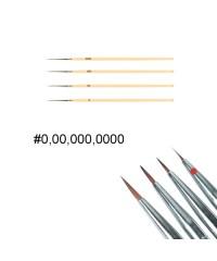 Кисть для дизайна ногтей с деревянной ручкой (№0)