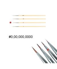 Кисть для дизайна ногтей с деревянной ручкой (№00)