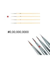 Кисть для дизайна ногтей с деревянной ручкой (№000)