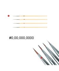 Кисть для дизайна ногтей с деревянной ручкой (№0000)