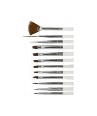 TNL, Набор кистей для дизайна ногтей (12 штук) №12