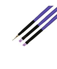 TNL, Набор кистей для дизайна ногтей (3 шт.) №6