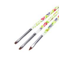 Набор кистей для дизайна (цветная ручка, 3 шт.) №7