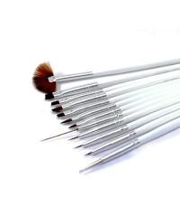 Набор кистей для дизайна ногтей TNL (12 штук)