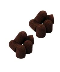 Колпачок песочный коричневый, 10-15 мм, 80 грит 10 шт.
