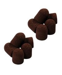 Колпачок песочный коричневый, 13-19 мм, 80 грит 10 шт.