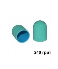 Колпачок для аппаратного педикюра зеленый 10-15 мм, 240 грит