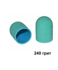 Колпачок для аппаратного педикюра зеленый 13-19 мм, 240 грит