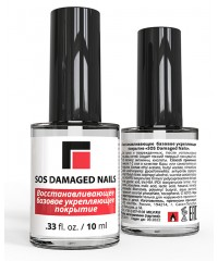 "Восстанавливающее базовое укрепляющее покрытие ""SOS Damaged Nails"" 10 мл."
