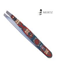 Пинцет диагональный с декором MERTZ A135