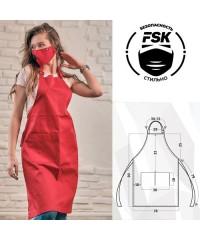 Фартук FSK плащевка красный