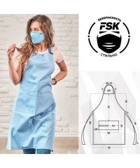 Фартук FSK Сатори голубой