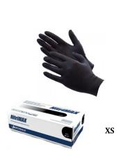 Nitrimax, Перчатки нитриловые неопудренные черные (размер XS), 50 пар