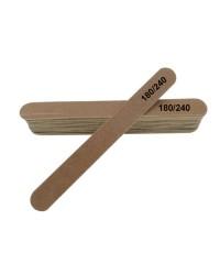 Пилка тонкая на деревянной основе 180/240 грит, 1 шт