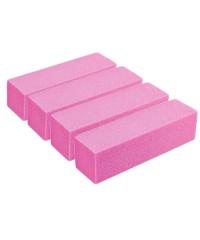 Баф для шлифовки ногтей, 4шт (розовый)